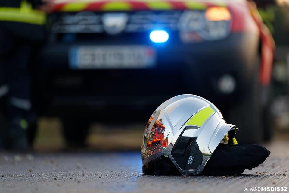 Roquelaure (32) - Les pompiers interviennent pour un feu de hangar