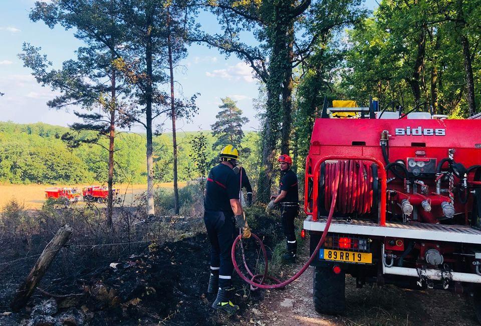 Corrèze - 90 sapeurs-pompiers mobilisés sur plusieurs départs de feu