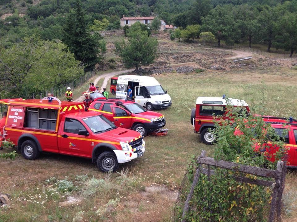 Alpes-de-Haute-Provence (04) - Secours à personne dans le canyon de la Ferné