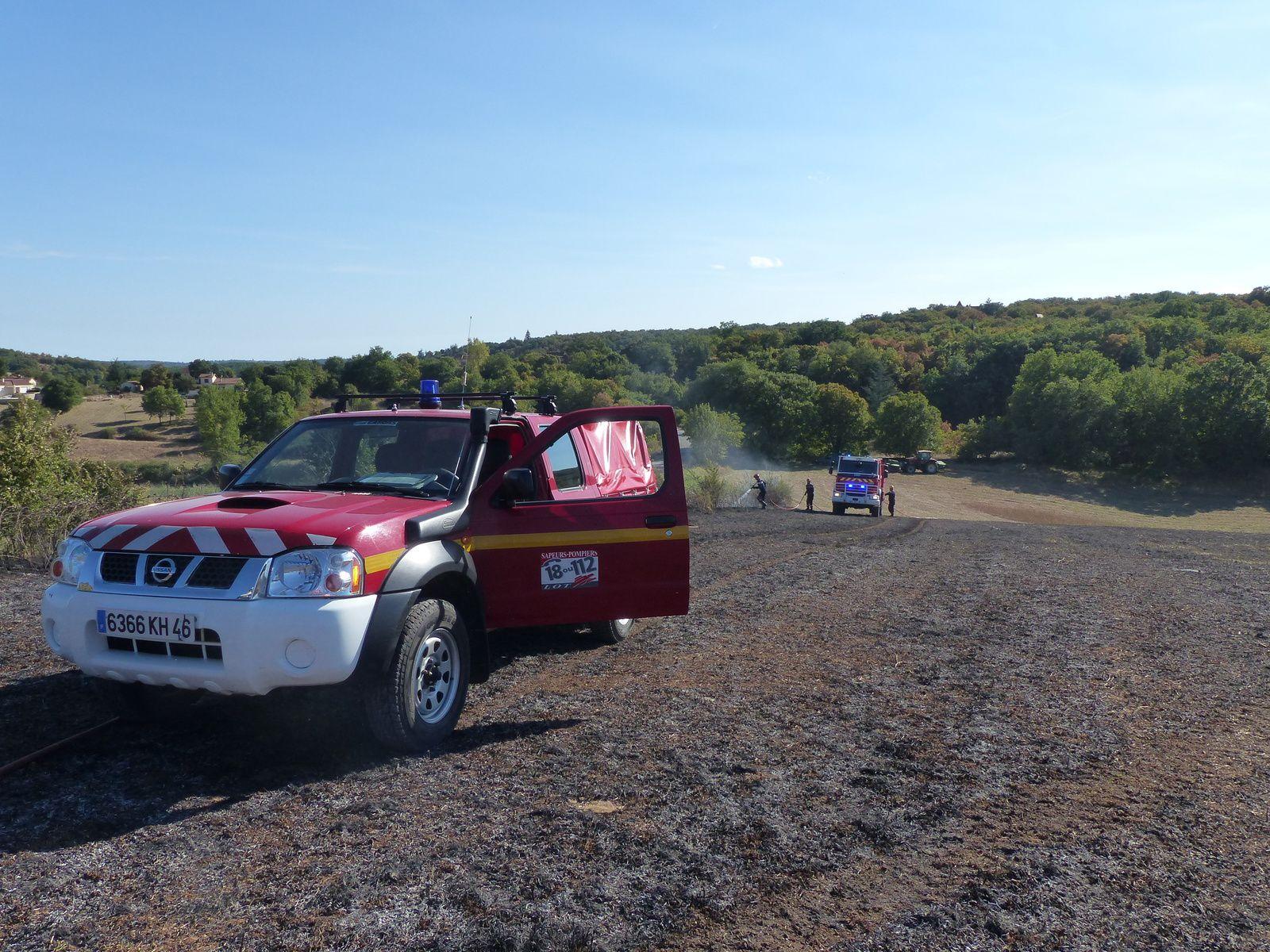 Crayssac (46) - Incendie de végétation au Mas de Mirol