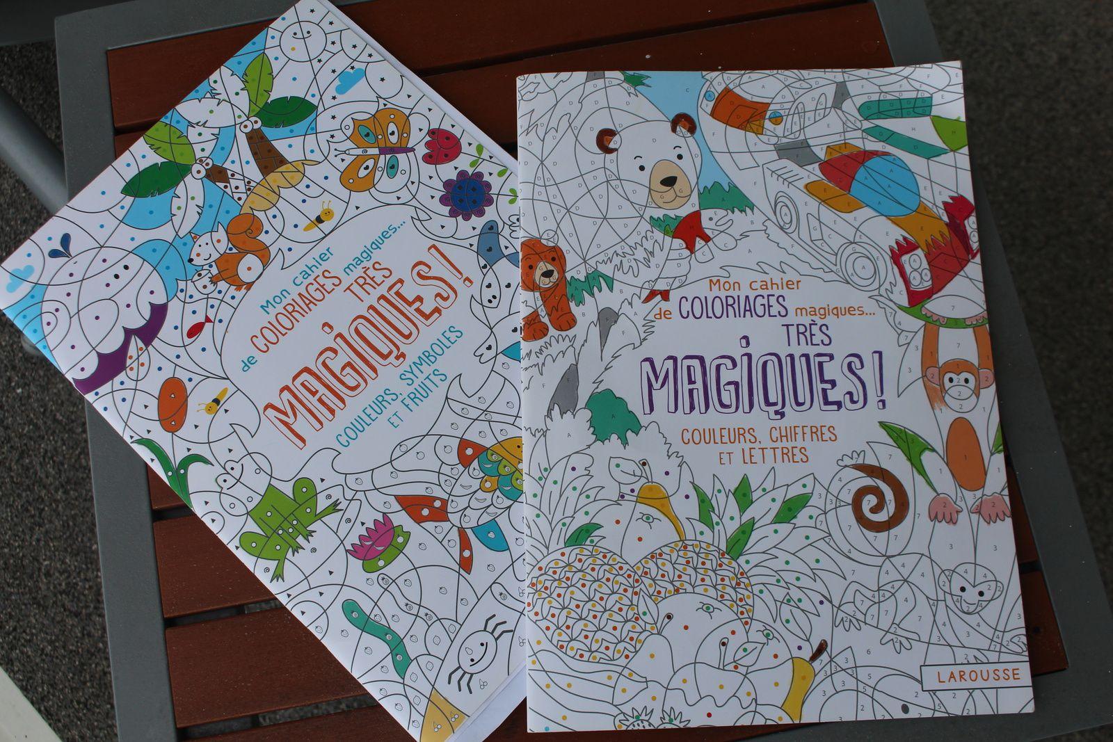 Cahiers de coloriages très magiques