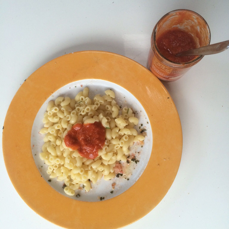 Coquillettes sauce tomates cerises et mascarpone (degustabox)