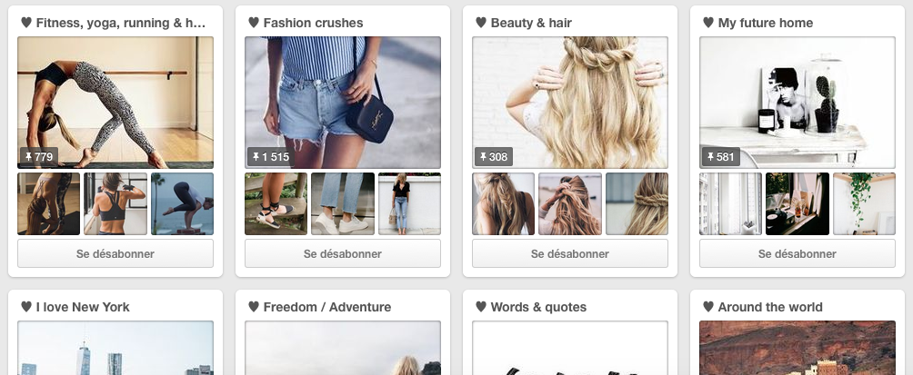 Top 10 de mes préférences sur Pinterest