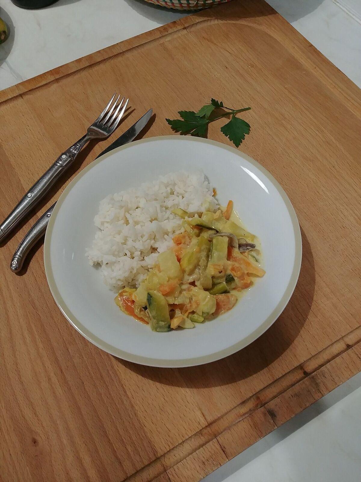 Curry de légumes (et Degustabox)