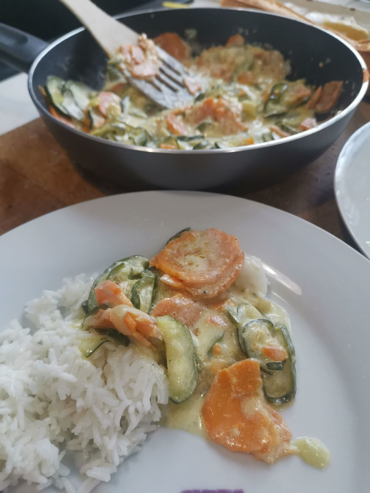 Curry courgette et patate douce