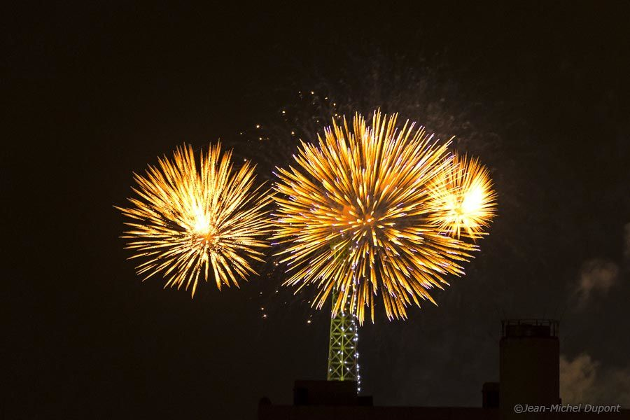 Feu d'artifice de la tour Eiffel