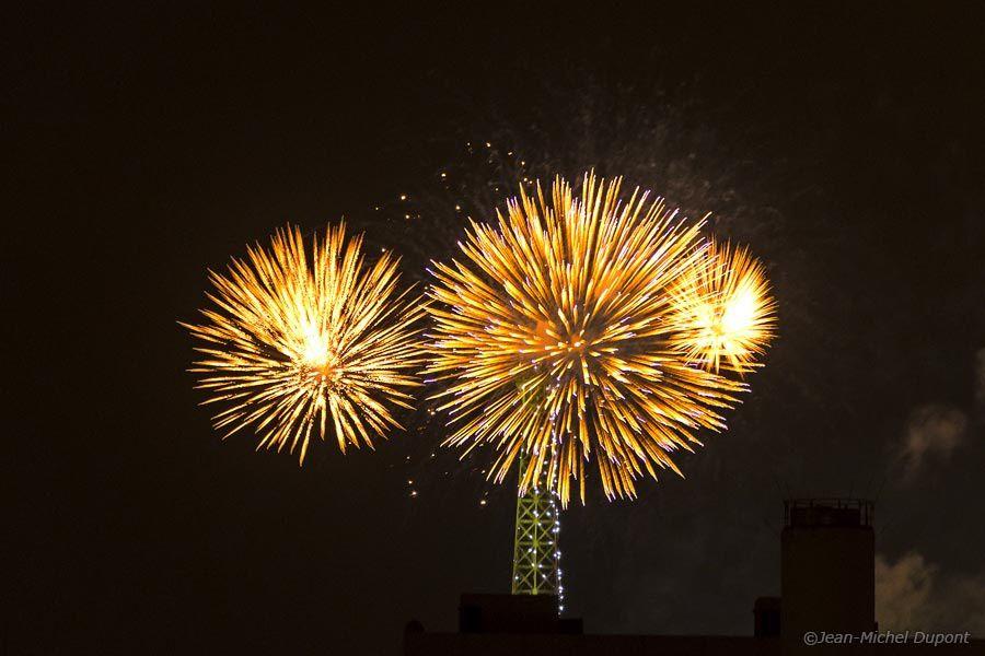 Feu d'artifice de la tour Eiffel