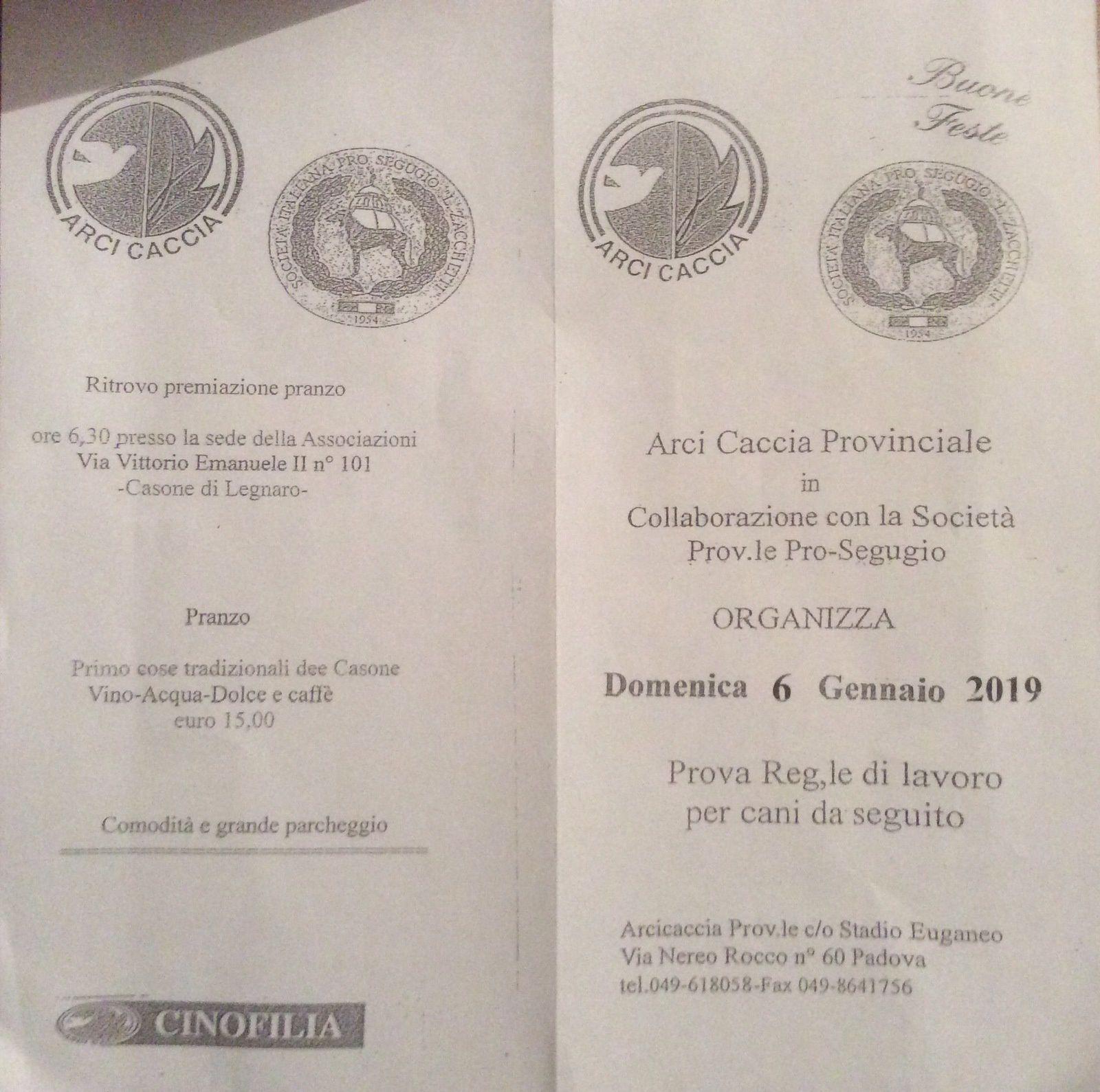 Prova Regionale di lavoro per Cani da Seguita a Padova.