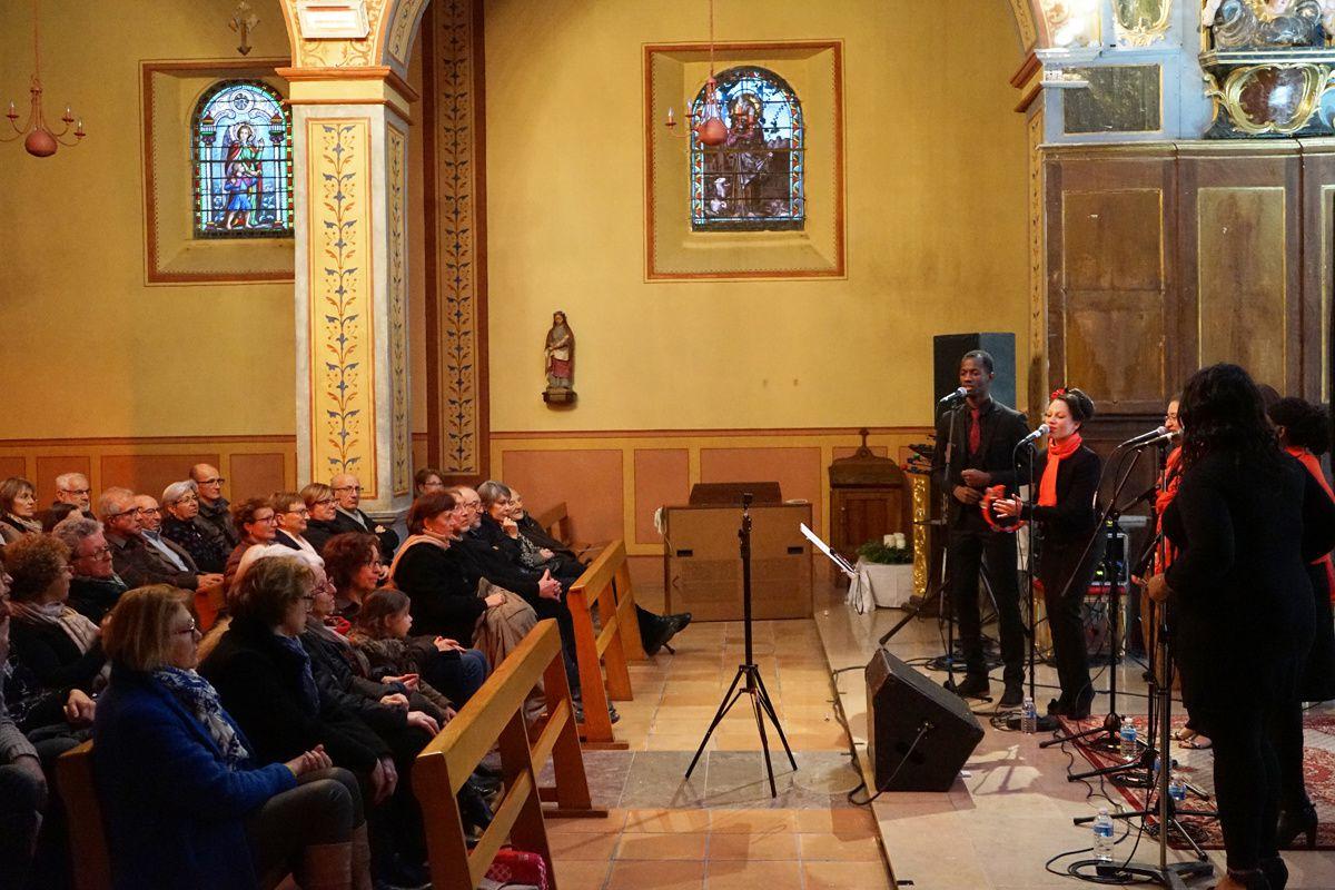 Concert Gospel Crew, Barbazan-Debat, Parcours d'architecture, 2016