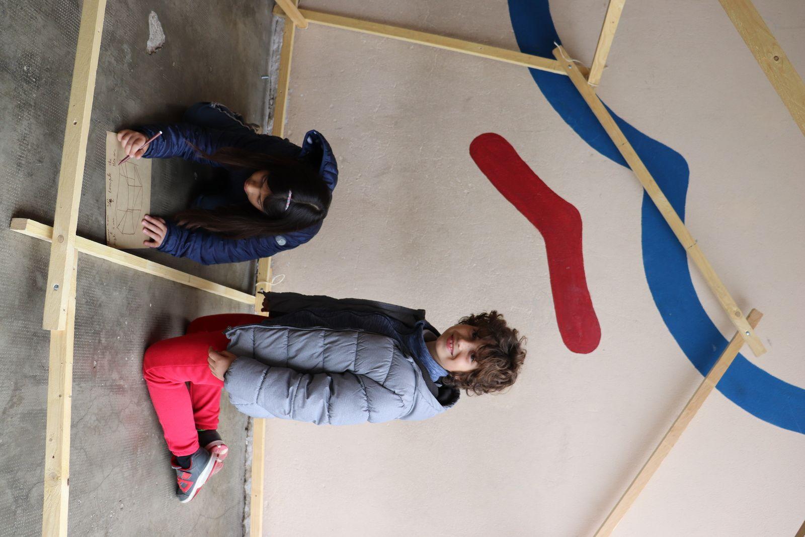 Ecole primaire Jean Macé de Narbonne, Une cabane... des cabanes, Parcours d'architecture 2019