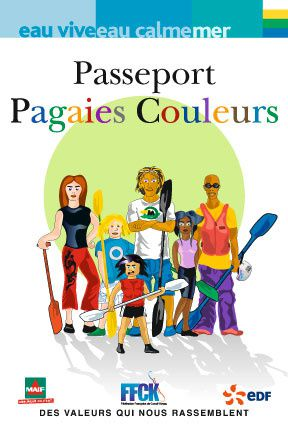 Passeport pagaies couleurs FFCK