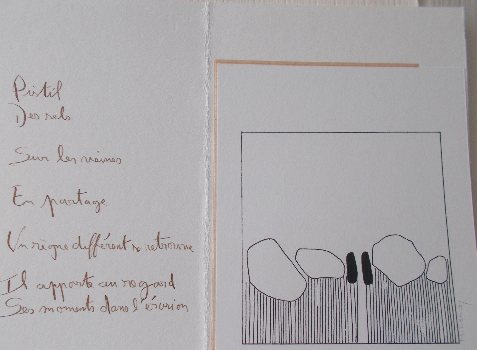 LES DEUX VERSANTS DU PAYSAGE, livre d'artiste ( Régis Roux/ Hélène Leroy; 2017)
