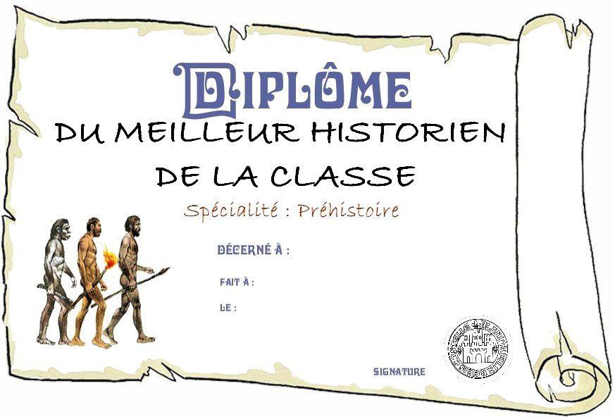 Diplome du meilleur historien de la classe