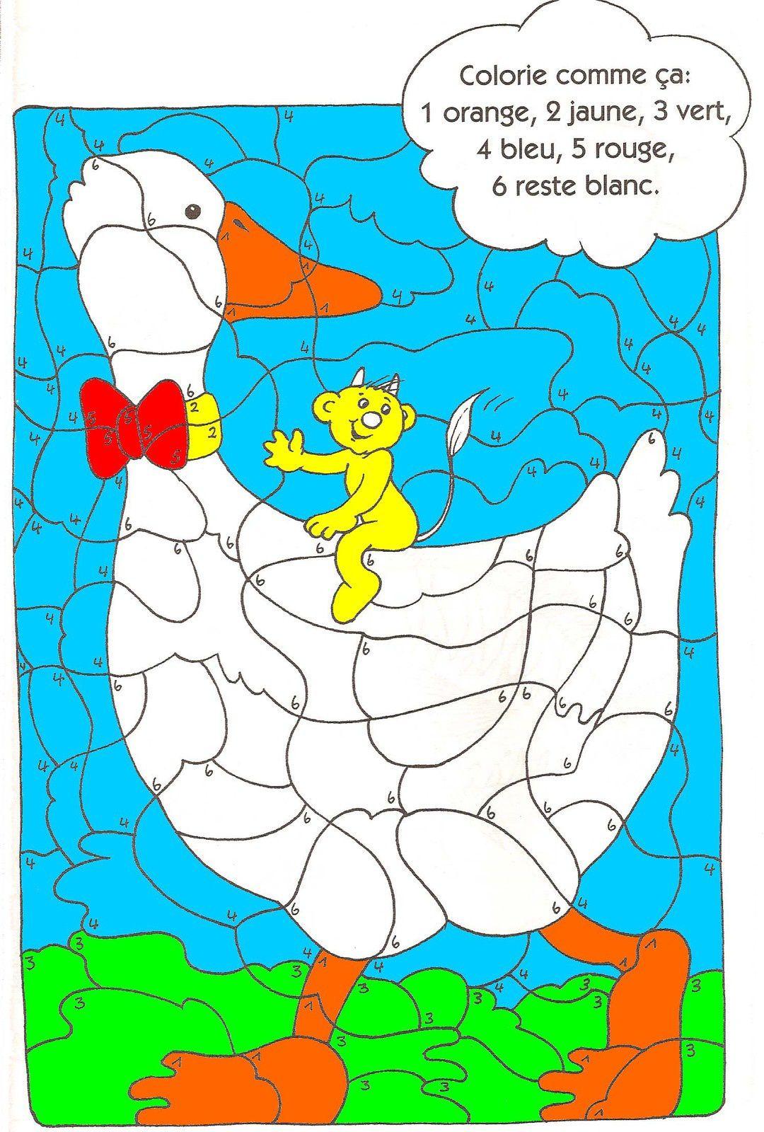 Coloriage magique conjugaison : les personnes.