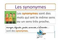 Exercices sur les synonymes