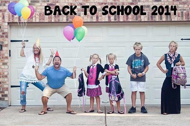 Joie des parents pour la rentrée scolaire...