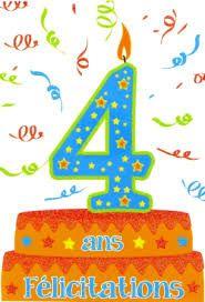 Bon anniversaire le blog!!! 4 ans aujourd'hui ...