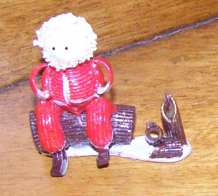 Père-Noël avec des pâtes