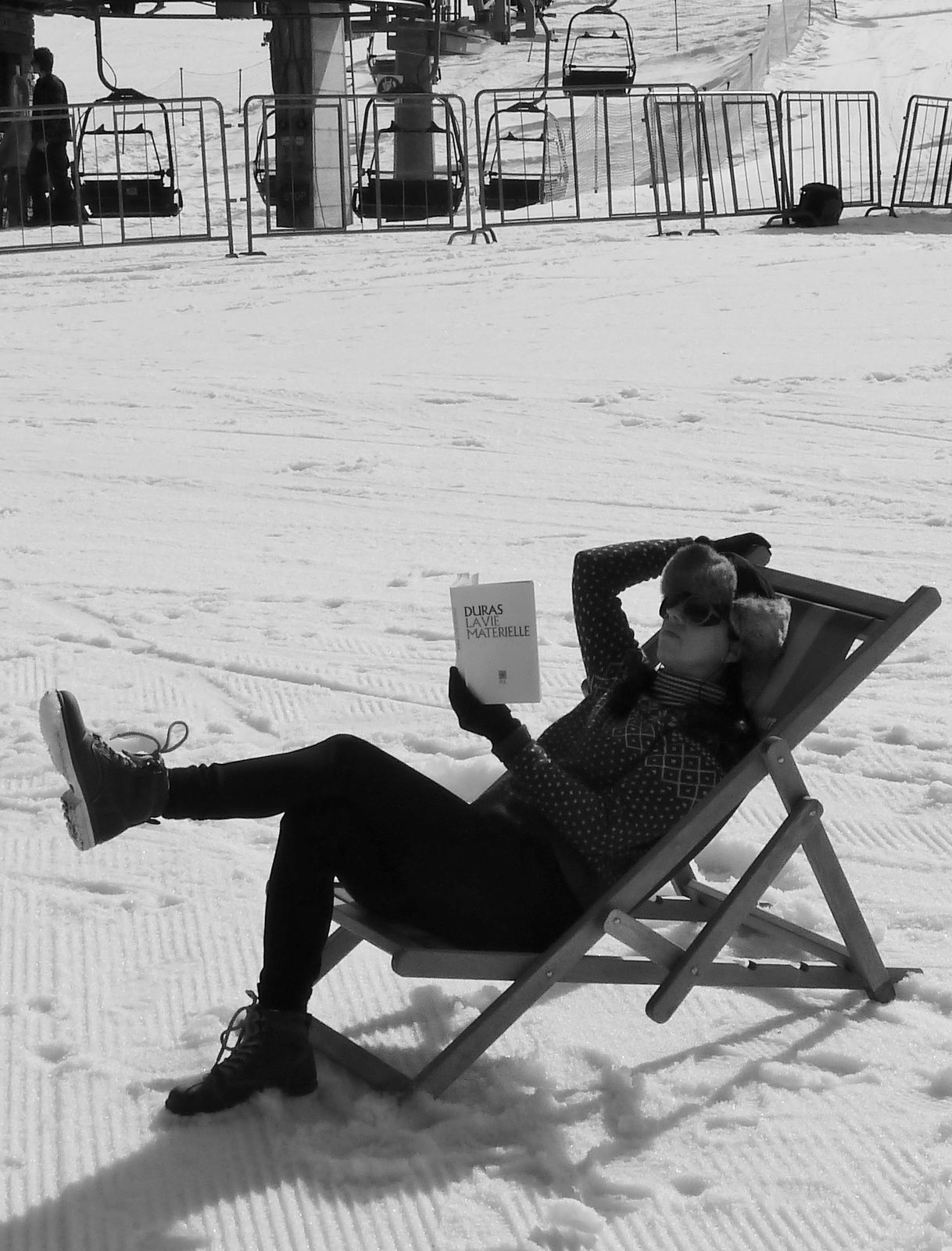 Reading in the snow