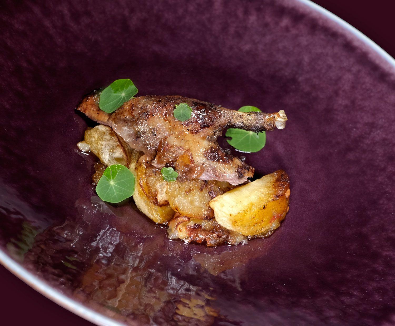 Canard colvert rôti aux pommes