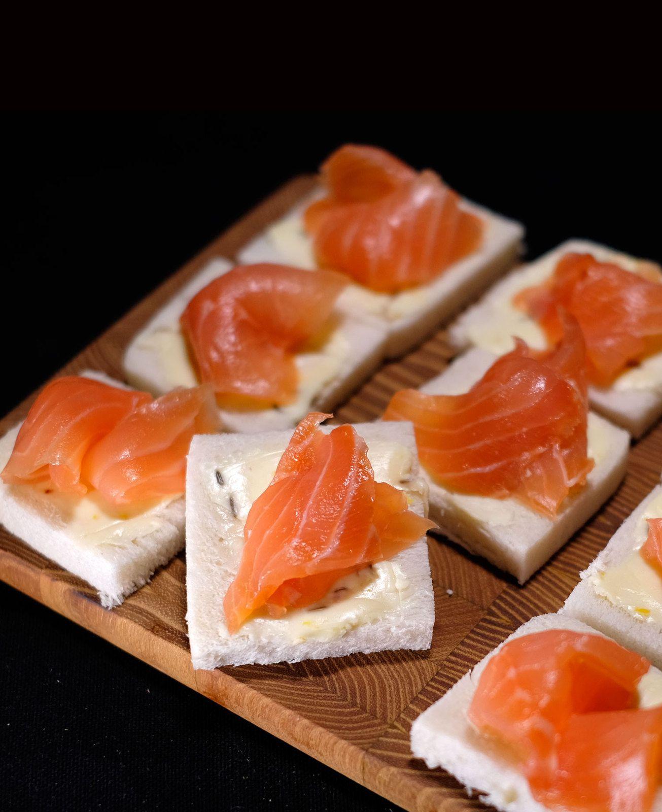 Beurre de citron au graines de fenouil et saumon fumé