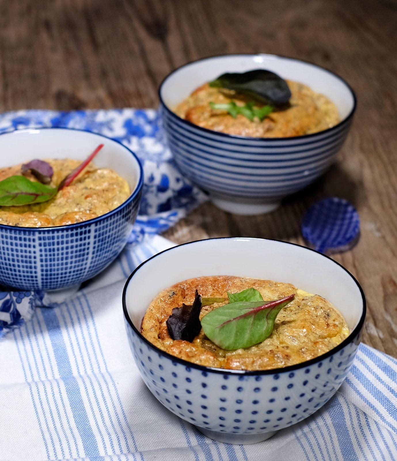 Cassolettes de champignons au parmesan