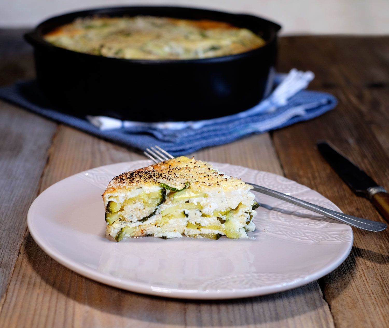 Pashtida aux courgettes et à la menthe (cuisine juive)