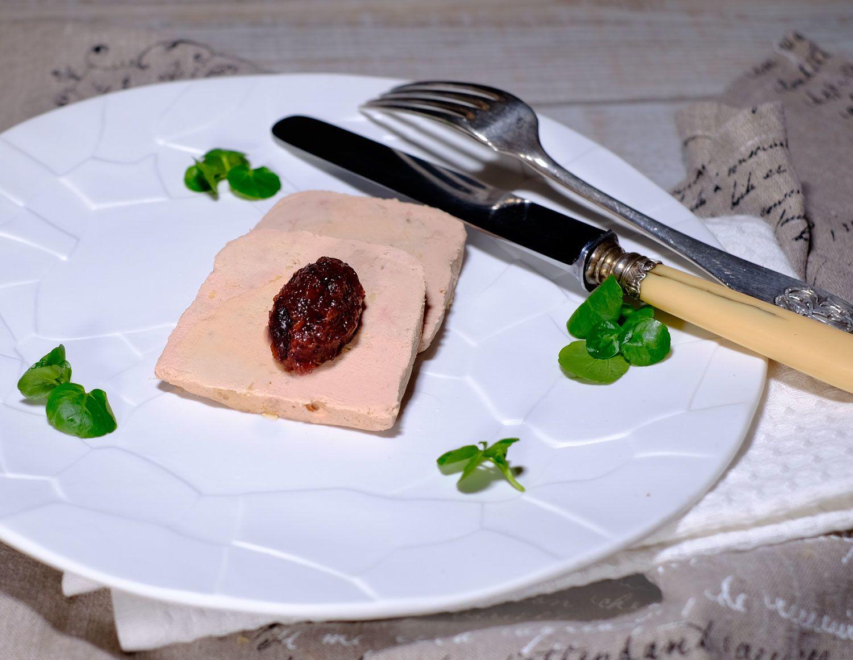 Foie gras et chutney de cranberries