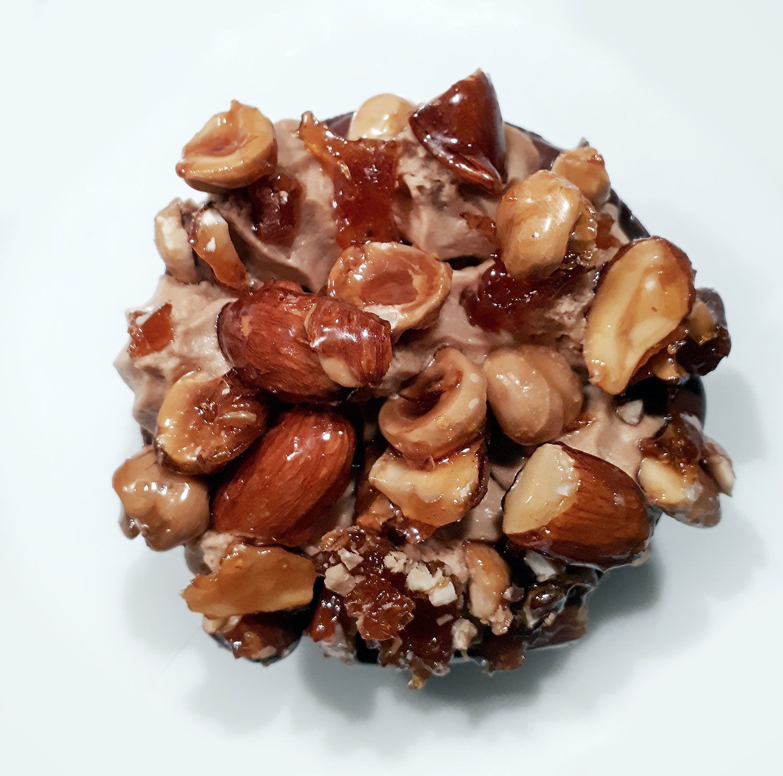 Tarte au chocolat praliné et fruits secs caramélisés de Philippe Conticini