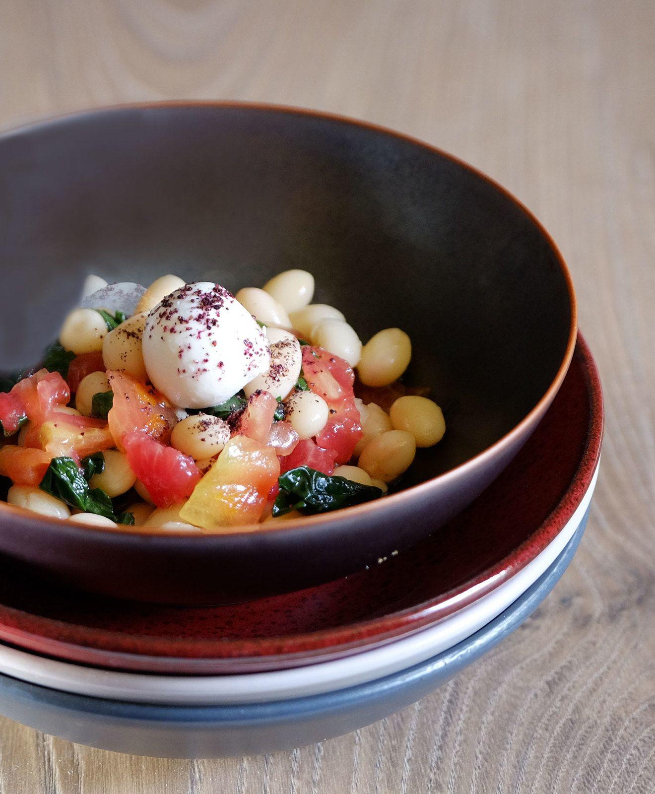 Salade de cocos aux épinards et tomate-mozzarella (veggie)