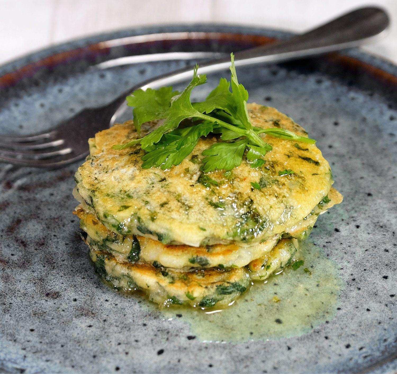 Ottolenghi-pancakes aux épinards et beurre citronné épicé