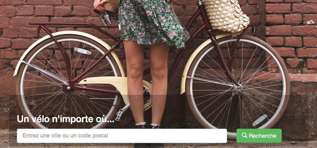 Un vélo n'importe où en un simple clic !
