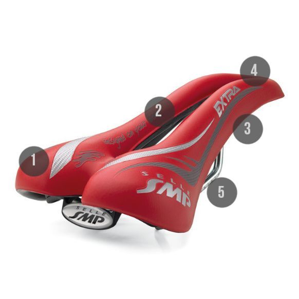 Selle SMP Extra rouge unisexe