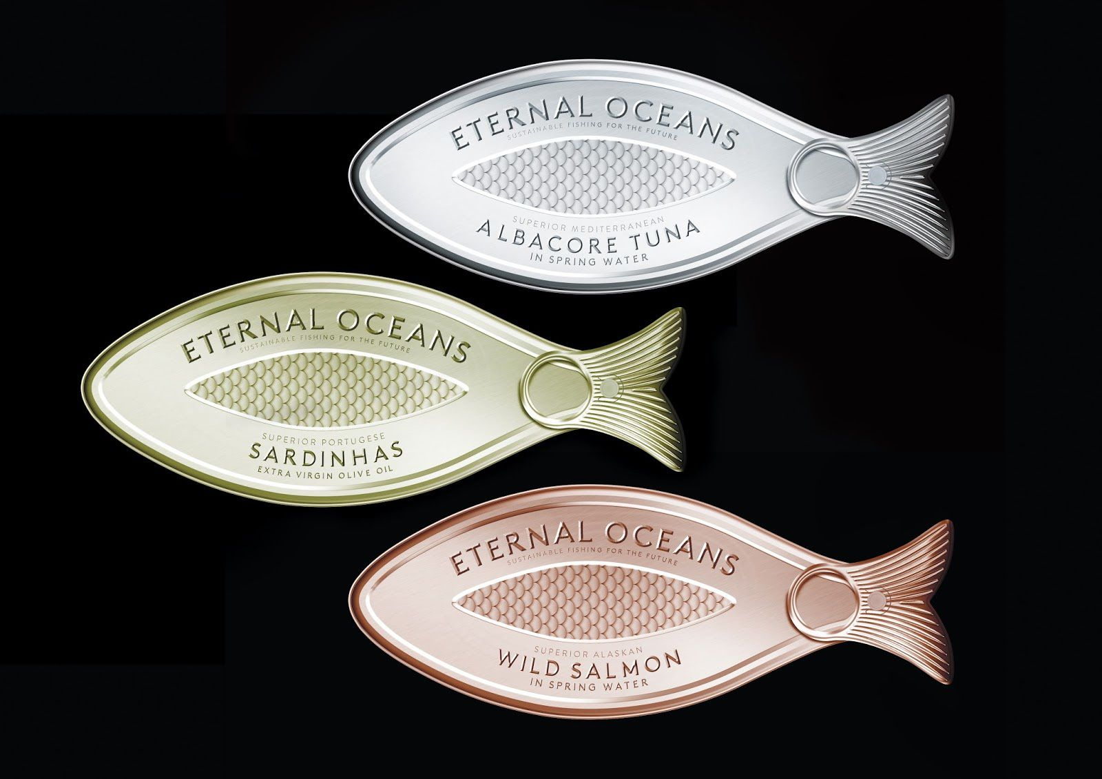 Eternal Oceans (conserves de poisson issu de pêche 100% durable) I Design : Anthem, Benelux (octobre 2016)