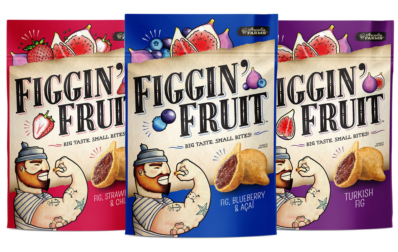 Figgin' Fruit - Hello Delicious! Brands (biscuits aux figues) I Design : Pivot Marketing, Chicago, États-Unis (octobre 2016)