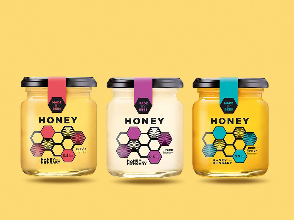 "Honey - ""Made by bees"" (miel) I Design (concept) : Royal Rocket, Hongrie (novembre 2016)"
