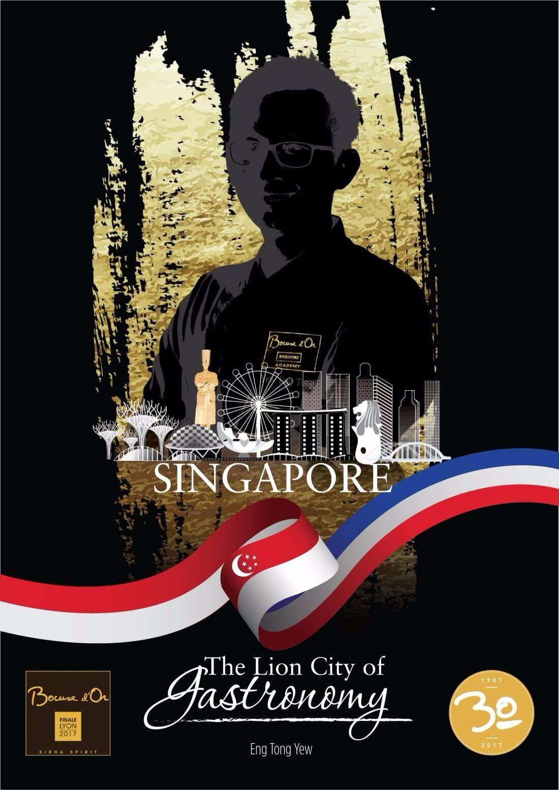 Poster de l'équipe de Singapour - Bocuse d'Or 2017