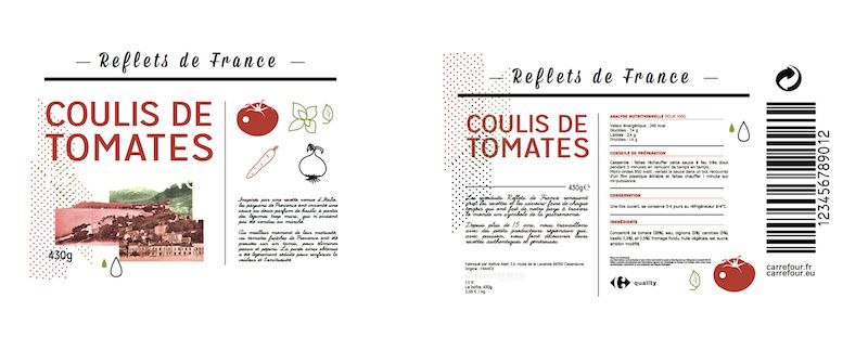 """""""Derrière chaque produit, un Homme, un Terroir"""" - Reflets de France (marque de produits régionaux français du groupe Carrefour) I Design (projet étudiant) : Hugo Le Fur (BTS Design Graphique - Olivier de Serres), Paris, France (2013)"""