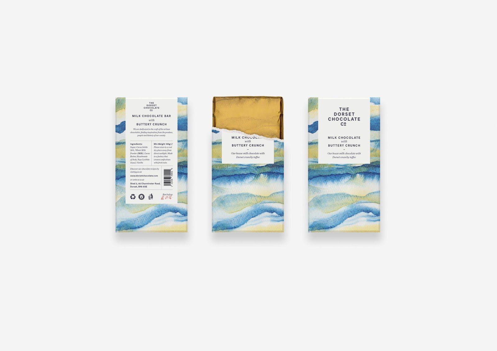 The Dorset Chocolate Company (chocolat artisanal) I Design : Salad Creative, Bournemouth (janvier 2017)