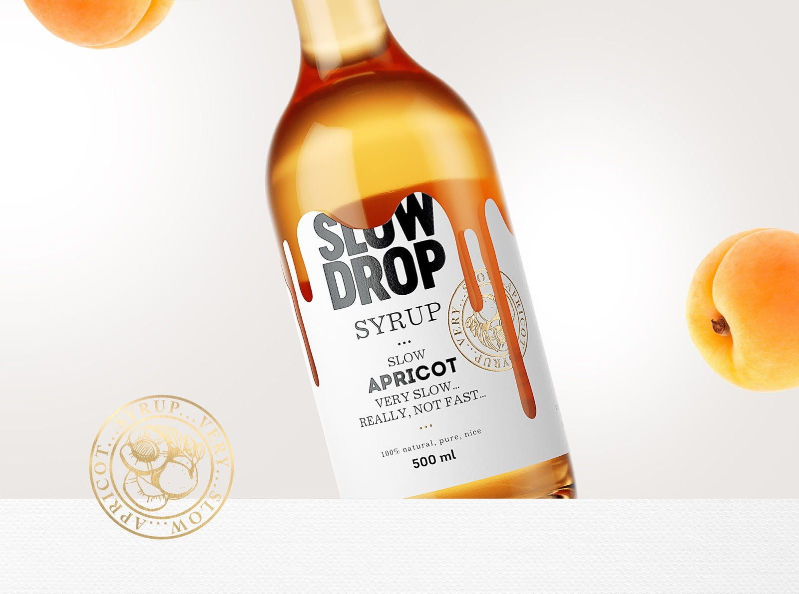 Slow Drop (sirops pour cocktails) I Design : Stas Neretin, Moscou, Russie (mars 2017)