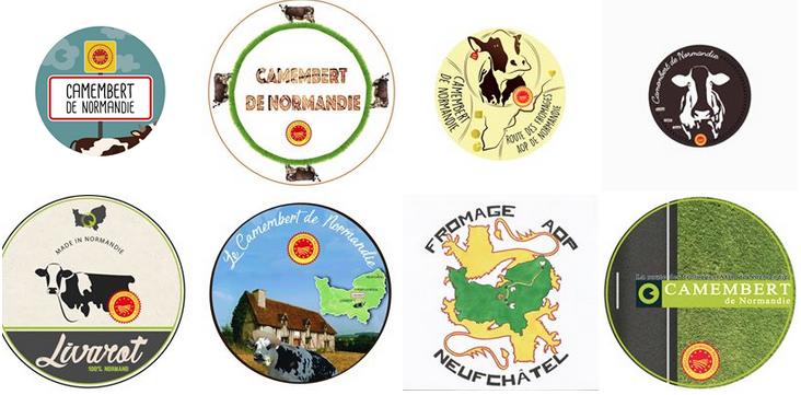 Concours étiquette collective 2017 Fromages AOP de Normandie