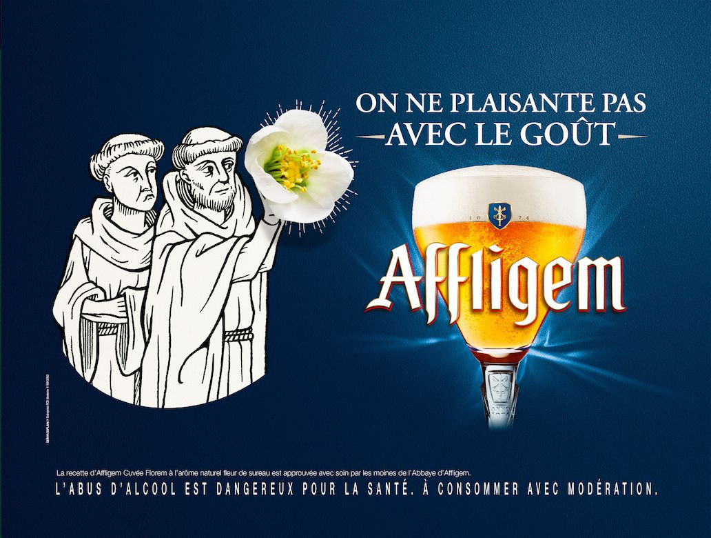 """On ne plaisante pas avec le goût"" - Affligem / Heineken (bière) I Agence : Serviceplan, France (avril 2017)"