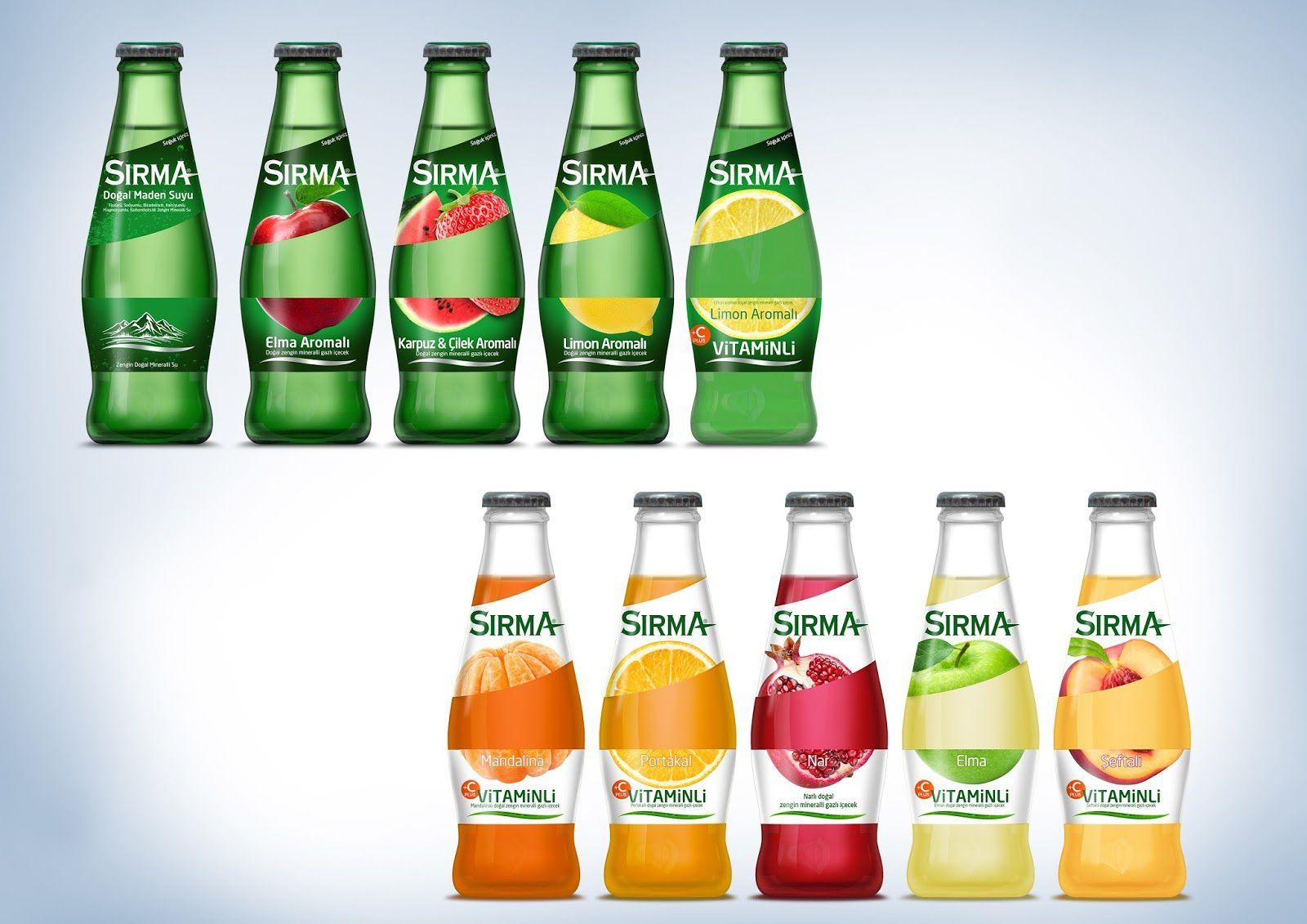 Sirma Fruit (eau minérale aromatisée aux fruits) I Design : Tasarist, Istanboul, Turquie (avril 2016)