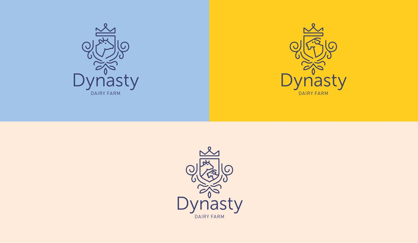 Dynasty (produits laitiers) I Design : Vataga Agency, Lviv, Ukraine (juin 2017)