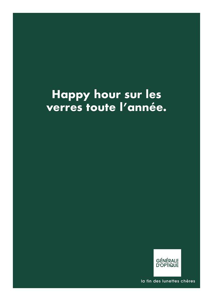 """""""Happy hour sur les verres toute l'année"""" (Génrale d'Optique) I © Antoine Louis - Accrochage verbal"""