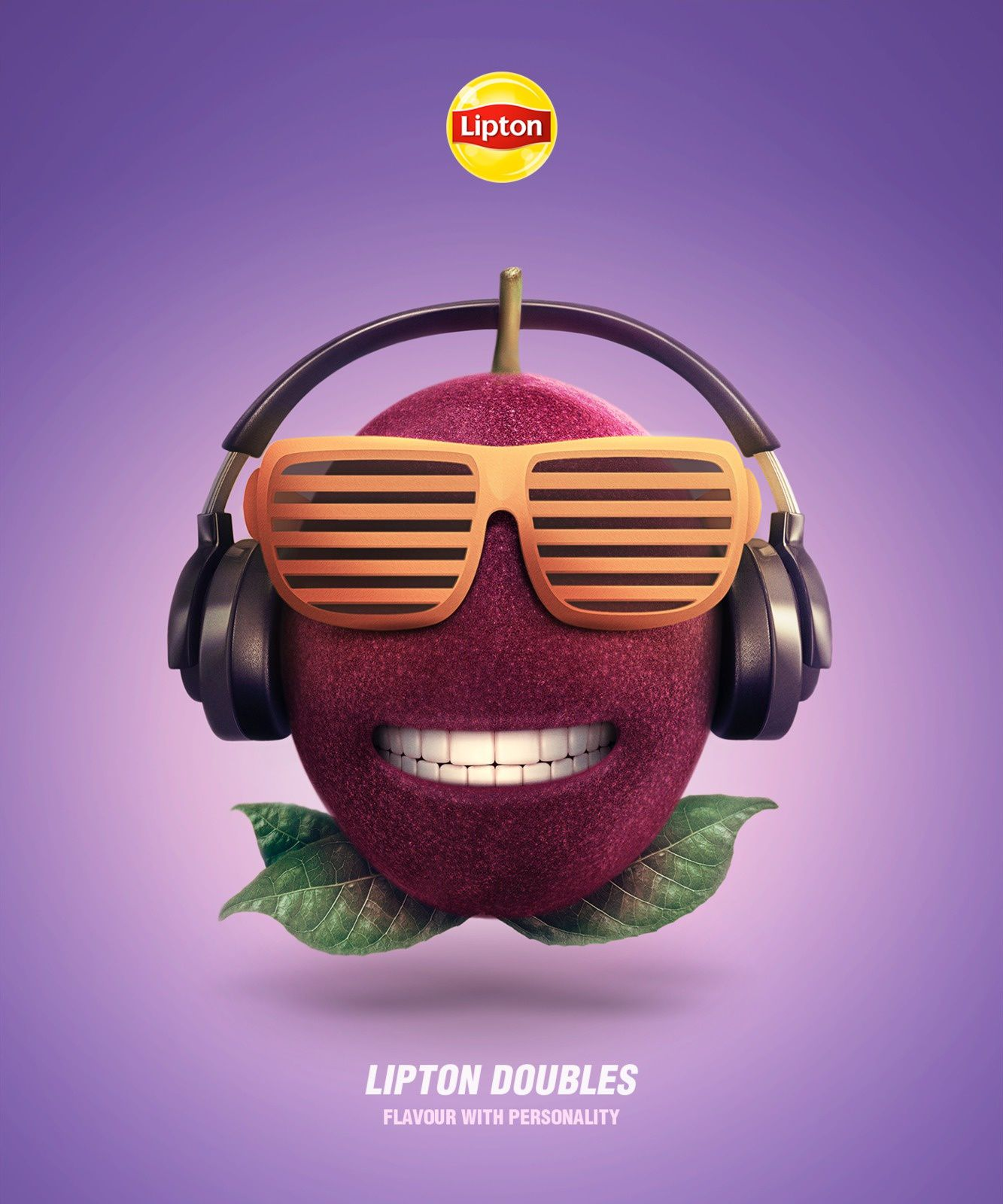 """Lipton - """"Lipton doubles. Flavour with personality"""" (thé aromatisé) I Agence : Isobar, Portugal (juillet 2017)"""