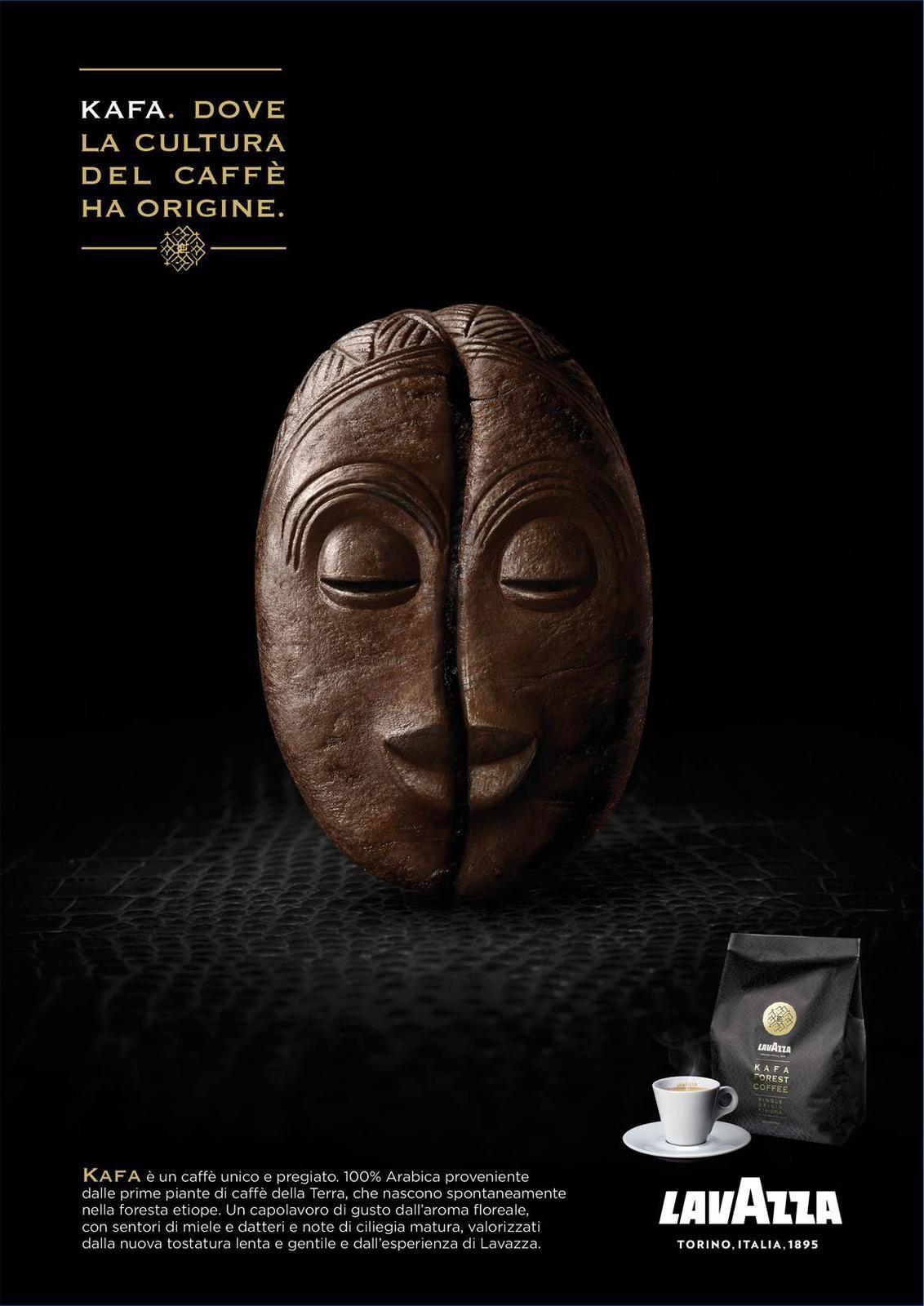 """Lavazza - """"Kafa. Where the coffee culture has its origins"""" (café d'origine) I Agence : Armando Testa, Milan, Italie (août 2017)"""