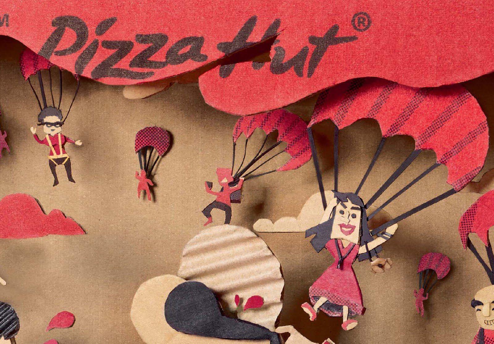 "Pizza Hut - ""Unexpected guests ?"" (service de livraison de pizzas) I Design : Ogilvy Malaysia, Malaisie (Août 2017)"