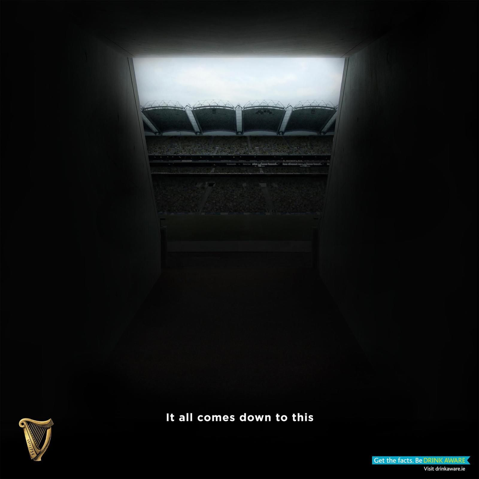 "Guinness - Croke Park Tunnel : ""It all comes down to this"" I Agence : Irish International / AMV BBDO, Dublin, Irlande (septembre 2017)"