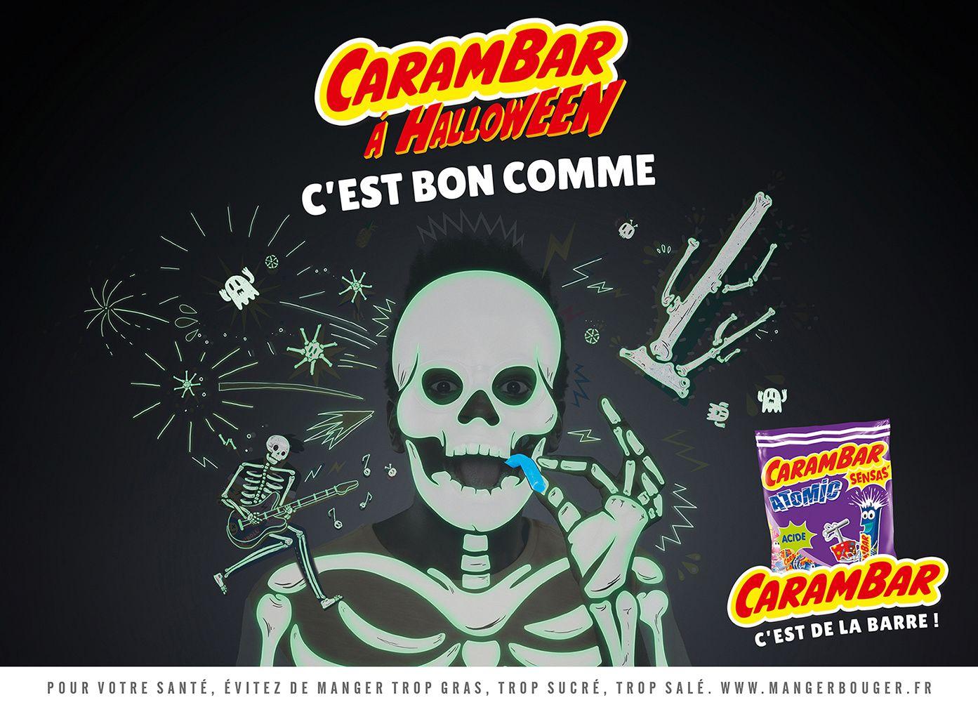 """Carambar Atomic - """"Carambar à Halloween, c'est de la barre !"""" I Agence : Fred&Farid, Paris, France (octobre 2017)"""